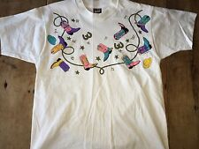 Electric Horseman Vintage 1980's Cowboy Cowgirl Boots Shirt Large