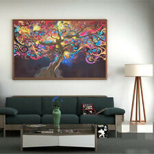 HOT Psychedelic Trippy Tree Abstract Art Silk Poster Home Decor Wall Sticker NEU