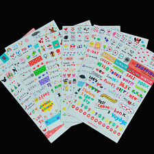 6sheet Washi Drawing Market Planner Diary Deco Stickers Transparent Scrapbooking