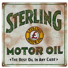 Reproduction  Sterling Motor Oil And Gas Station Sign