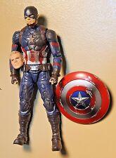Captain America Marvel Legends Battle Damaged Civil War Mcu Loose  From 3 Pack