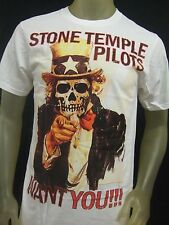 Nwt Men's Slim Fit Med Stone Temple Pilots Want You Skeleton STP Rock Band Shirt