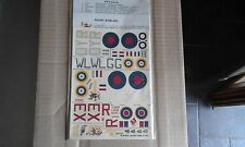 E.S.C.I. DECALS n 57-1:72-G.B-ARMSTRONG WHITWORTH WHITLEY-SHORT STIRLING-ESCI