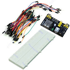 MB-102 830 Point Solderless Breadboard PCB +Power Supply+65pcs Jump Cable Wires