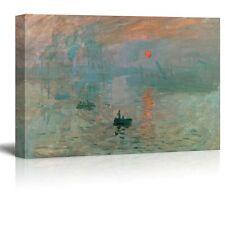 "Impression Sunrise by Claude Monet Giclee Canvas Prints- 32"" x 48"""