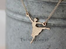 TwinkleJewel Ballerina Ballet Charming Dance Dancer Gold Plated Pendant necklace