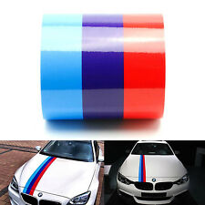 BMW M color stripes Rally side hood Racing Motorsport vinyl decal sticker 60''