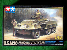 TAMIYA 1/48th ~ US M20 Armoured Utility Car ~ Plastic KIT #32556 NEW