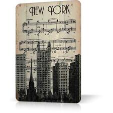 METAL TIN SIGN NEW YORK MANHATTAN ANTIQUE POSTER Vintage Retro Decor Home Bar