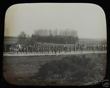 Glass Magic Lantern Slide SCOTS GUARDS ROUTE MARCHING  C1900 BRITISH ARMY