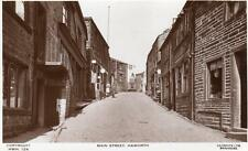 Main street Haworth Nr Keighley Bradford unused RP old pc Lilywhite