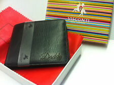 Personalised, Unusual Leather Wallet, Free laser engraving and inside plate