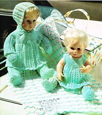 "Dolls clothes knitting pattern for 12"" &16"" doll.   (V Doll 44)"