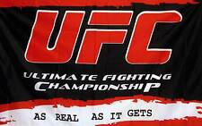 3'X 5' UFC RED BLACK polyester flag w/ grommets. Banner Sign Display