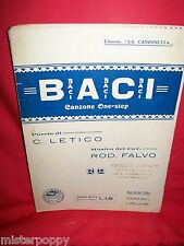 R. FALVO Baci 1930 Italy Spartito Music Sheet