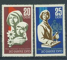 DDR Briefmarken 1967 Frauenbund  Mi-Nr. 1256 und 1257 ungestempelt