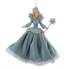 C9265 Kurt Adler Platinum Teal Snow Ice Queen Frosted Kingdom Christmas Ornament