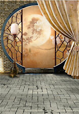 Moon Photography Backdrops Chinese Style House Vinyl Photo Background Prop 5x7ft
