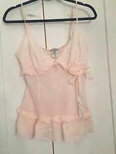 Guess Jeans Sexy Lacy Cami Tank Top, Pink, Size Large, NWT NEW