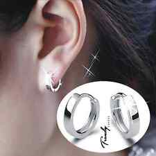 Women's Men's 925 Silver Filled Small Round Hoop earrings Sleeper Earrings