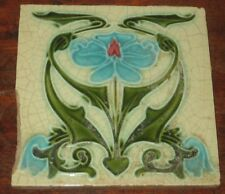 ENGLISH ART NOUVEAU TILE COLOURFUL DESIGN AF