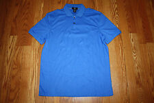 NEW Mens CALVIN KLEIN Short Sleeve Polo Shirt Blue Lapis Size M Medium