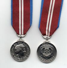 QUEEN'S DIAMOND JUBILEE MEDAL 2012 -  REPLACEMENT- STRUCK FROM ORIGINAL DIES