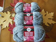 LOOPS AND THREADS CHARISMA TWEED BULKY YARN GRAY LOT OF 3 (93 YDS EACH)