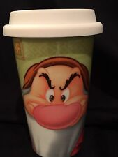 Disney Porcelain GRUMPY (Snow White) Hot/Cold DoubleWall TRAVEL coffee MUG/Cup
