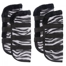 Tough 1 zebra pattern fly boots (set of 4) horse tack equine 85-7650-600