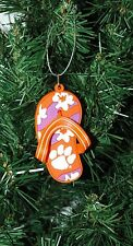 Clemson University Tigers Flip Flop Christmas Ornament