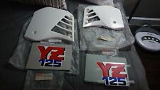 Yamaha YZ125 1987 Radiator Shrouds NOS and original decals NOS