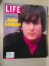 LIFE Magazine - Remembering John Lennon 25 Years Later  FIRST ISSUE