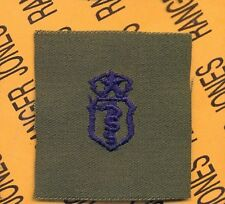 USAF Master Bio Medical Service Qualification OD Green & Blue badge patch