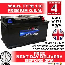 110 85AH 80Ah SEAT TOLEDO 1.9 DIESEL CALCIUM Car Battery TYPE 115 EXTRA H/DUTY