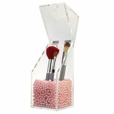 Brush Holder LuckyFine Acrylic Makeup Brush Beauty Tools Cylinder Barrel Storage
