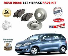FOR HONDA FRV 1.7 1.8 2.0 2.2 CDTI 2004-  REAR BRAKE DISCS SET + DISC PADS KIT