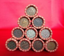✯ Window Wrapped Lincoln Wheat Penny Roll with 1700s/1800s OLD WORLD COIN End ✯