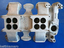 VINTAGE WEIAND OLDS WO4D DUAL QUAD ALUMNIUM INTAKE MANIFOLD SAY WHY AND 2X4 371