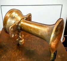 Doran Cunningham Vintage Bronze Air Whistle, Size 3A Ship or Locomotive Air Horn