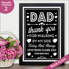 Personalised Wedding Signs - Thank You DAD - Father of the Bride Thanks Love