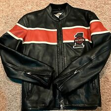 Men's Harley Davidson Leather Jacket Cafe Racer No 1 Motorcycle Jacket