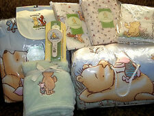 Classic Winnie The Pooh Complete Nursery Crib Bedding Set All Brand NEW