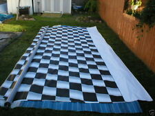 15' RV TRAILER CAMPER 5th WHEEL AWNING RACE FLAG CHECKERED VINYL FABRIC NEW A&E