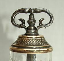 joli petit moulin à poivre bronze et cristal 19ème