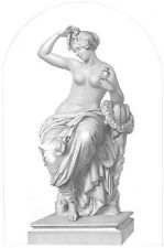 PRETTY NAKED NUDE GIRL WOMAN BATH & Breasts ~ Antique 1851 Art Print Engraving