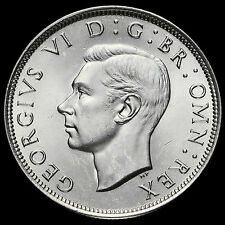 1945 George VI Silver Half Crown, BU #2