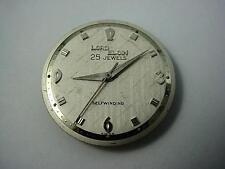 Watch Dial Pearl Lord Elgin 25 Jewels Selfwinding Vintage 28.87mm Hands NOS