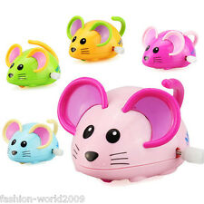 Children Kids Funny Plastic Zoo Wild Animal Clockwork Wind Up Toy Gift-Mouse