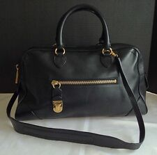 MARC JACOBS  Venetia Handbag Black Leather made in Italy